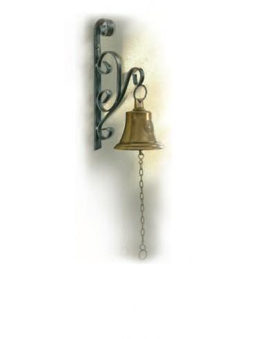 Campana in ottone lucido h cm35