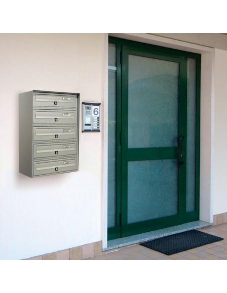 Casellario postale da esterno a 5 posti SLIM