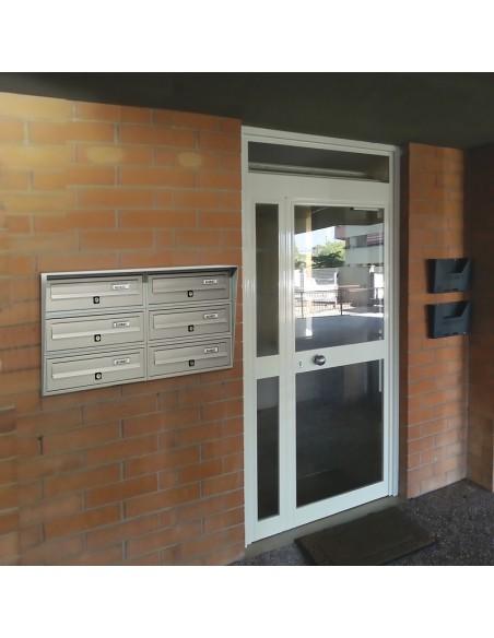 Casellario postale da esterno a 6 posti SLIM