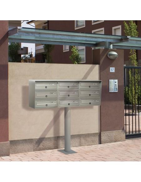 Casellario postale da esterno a 9 posti SLIM