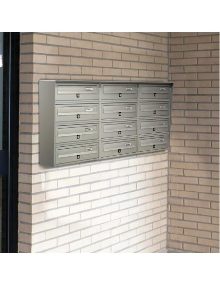 Casellario postale da esterno a 12 posti SLIM
