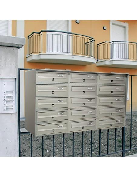 Casellario postale da esterno a 15 posti SLIM