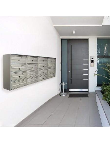Casellario postale da esterno a 16 posti SLIM