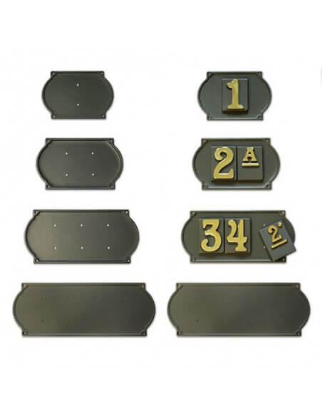 Numeri civici in ottone